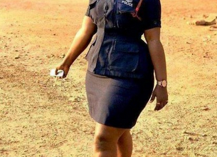 Photo of Ama Serwaa Dufie: Most curvy police woman in Ghana