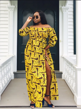 front slit Ankara gowns for ladies