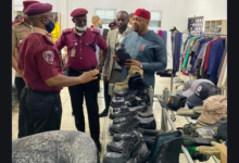 Photo of Garment Factory Owned By Jim Okolo Visited by FRSC Officials