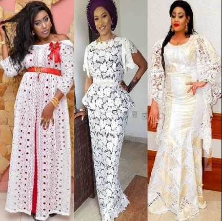 short lace gown styles for ladies