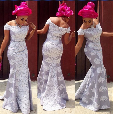 latest lace gown styles for ladies