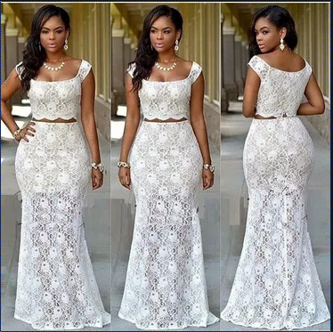 Lace gown styles for ladies
