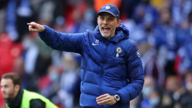 Photo of Chelsea coach, Tuchel reacts after winning Manager of the Year Award