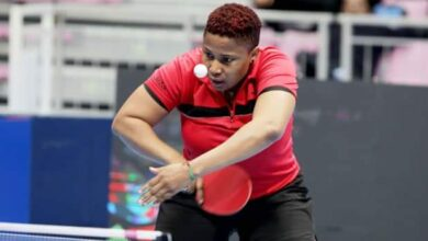 Photo of Offiong Edem speaks after losing to Lily Zhang at #TokyoOlymlics