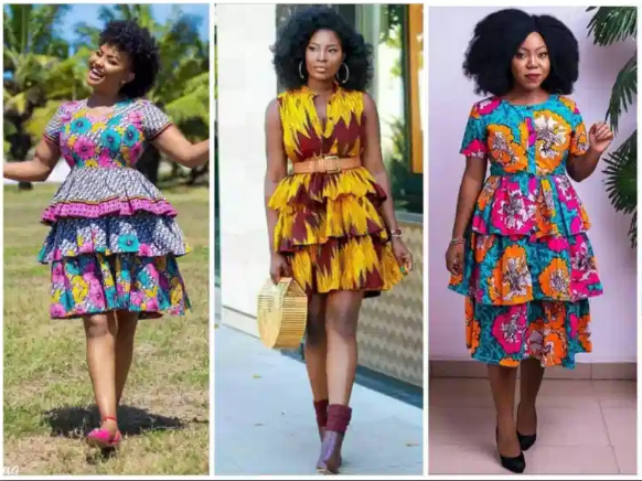 Trending Ankara Layered Gown Styles For Stylish Ladies