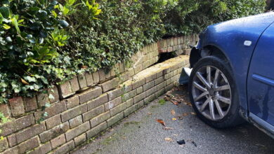 Photo of Woman Crashes Into House After Praying With Eyes Closed While Driving