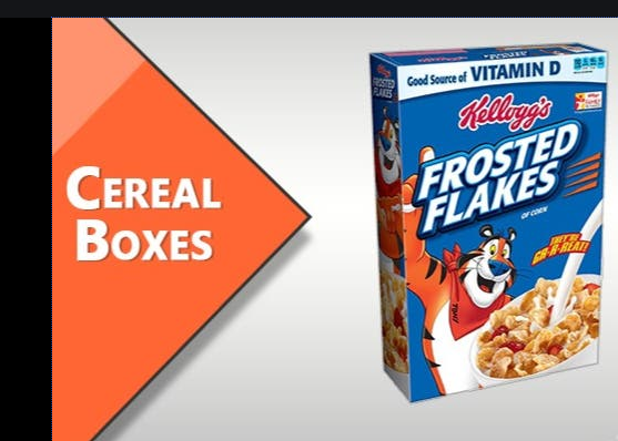 Photo of Aesthetically Designed Custom Cereal Boxes Wholesale