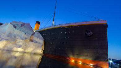 Photo of 3 People Hospitalized After Iceberg Wall Collapses At Titanic Museum